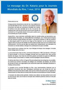 Message Dr Kataria J.Paix 2016